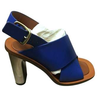 Celine Bam Bam Blue Leather Sandals