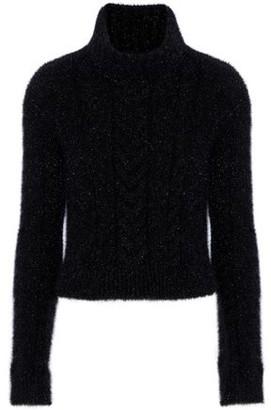 Philosophy di Lorenzo Serafini Metallic Knitted Turtleneck Sweater