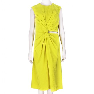 Jil Sander Yellow Silk Dress for Women