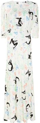 Rixo Mermaid-Motif Maxi Dress