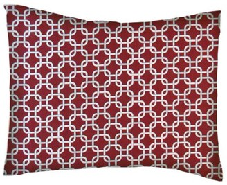 SheetWorld Twin Pillow Case - Percale Pillow Case - Burgundy Links