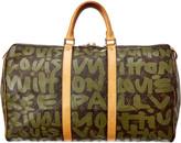 Louis Vuitton Limited Edition Stephen Sprouse Green Graffiti Monogram Canvas Keepall 50