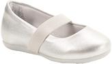 Pampili Silver Stretch-Strap Ballet Flat
