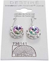 Crystallite VL Rhinestone Rivoli Dangle Earrings