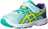 Asics GT 1000 4 TS Running Shoe (Toddler/Big Kid), Ice Blue/Flash Yellow/Emerald, 4 M US Big Kid