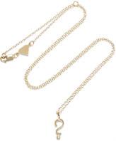 Alison Lou + Hasbro Question Mark 14-karat Gold Diamond Necklace