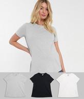 Asos DESIGN Maternity ultimate organic cotton crew neck t-shirt 3-Pack SAVE