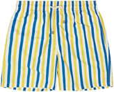 Solid & Striped The Classic Monaco Blue and Yellow Stripe Swim Shorts