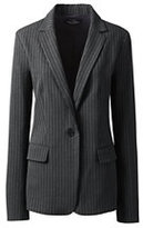 Lands' End Women's Petite Wear to Work Blazer-Slate Frost Stripe
