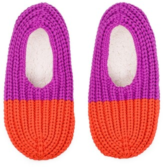 Verloop Colourblock Rib Slipper Poppy Magenta S/M