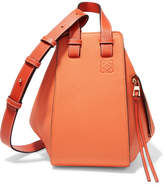 Loewe Hammock Small Textured-leather Shoulder Bag - Orange