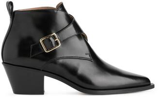 Arket Monk-Strap Ankle Boots