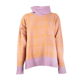 Woolish Sato Rollneck Merino Sweater Orange