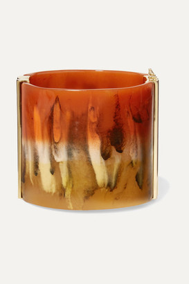 Chloé Bobby Gold-tone And Resin Cuff - Orange