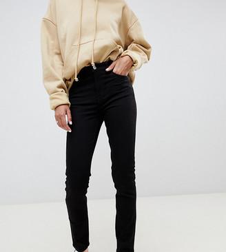 Weekday Way organic cotton High waist slim leg jeans in black