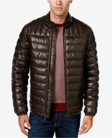 Tommy Hilfiger Men's Quilted Faux-Leather Puffer Jacket