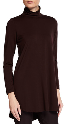 Eileen Fisher Scrunched Turtleneck Jersey Tunic