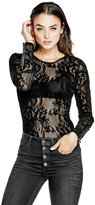 GUESS Deena Flocked-Lace Top
