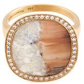 Monique Péan 'Fossilized Walrus Ivory' diamond 18k gold ring