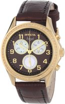 Invicta Women's 0580 Angel Collection Chronograph Dial Leather Watch