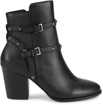 Saks Fifth Avenue Flora Pebbled Leather Booties