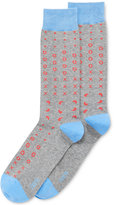 Bar III Men's Seamless Toe Patterned Tossed Bandana Dress Socks, Created for Macy's