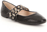Gianni Bini Rygen Double-Banded Leather Ballet Flats