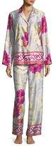 Natori Auburn Floral-Print Charmeuse Pajama Set