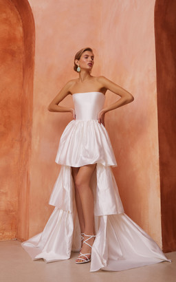 Rasario Bridal Ruffled Silk Corset Gown