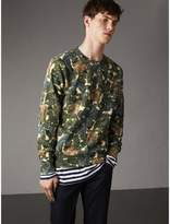 Burberry Beasts Print Cotton Sweatshirt