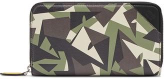 Fendi Geometric Camouflage Print Wallet