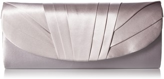 Jessica McClintock Women's Angel Satin Tuxedo Flap Evening Clutch Handbag