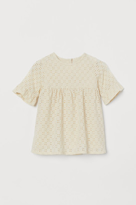 H&M Eyelet Embroidery Dress - Beige