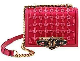 Alexander McQueen Women's Small Butterfly Jeweled Rosette Leather Satchel