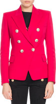 Balmain Double-Breasted Wool Blazer, Fuchsia