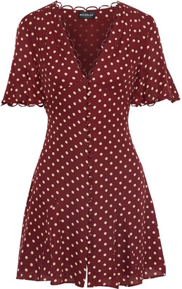 Nicholas Polka-dot Silk-chiffon Mini Dress
