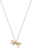 Marc Jacobs Pave Twisted Bow Pendant