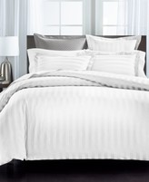 Charter Club Damask Stripe Supima Cotton 550-Thread Count 2-Pc. Twin Duvet Cover, Created For Macy's Bedding