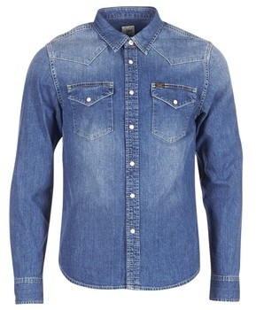Lee WESTERN SHIRT men's Long sleeved Shirt in Blue