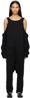 Regulation Yohji Yamamoto Black Terry Jumpsuit
