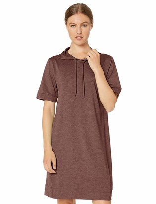 Core 10 Soft Workout Hoodie Dress Black Heather X-Large (US 16)