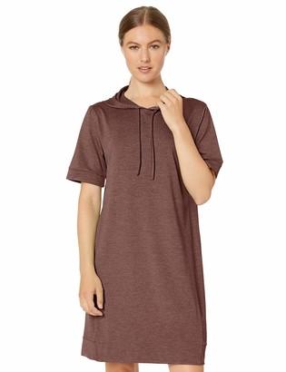 Core 10 Soft Workout Hoodie Dress Mauve Heather Large (US 12-14)