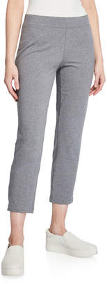 Eileen Fisher Petite Slim Stretch Jersey Ankle-Zip Pants