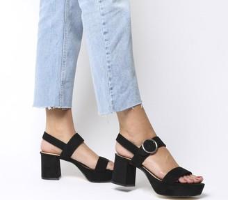 Office Mouse Platform Sandals Black