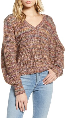 Splendid Briar Blouson Sleeve Marled Knit Pullover