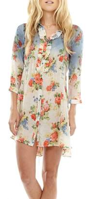 The Vintage Valet Floral Pleated Tunic