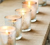 Pottery Barn Mercury Glass Votive Candle, Set of 6