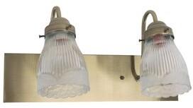 Charlton Home Kulikowski Bath 2-Light Vanity Light Finish: Antique Brass