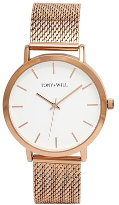 TONY+WILL Classic Mesh Rose Gold TWM000D Watch