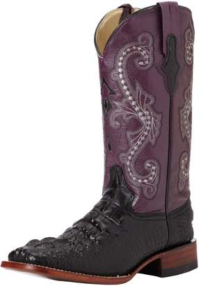 Ferrini Women's Print Hornback Caiman Western Boot